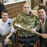 At the Opening with Paul Rowley