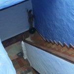 Escalera de bajada a la zona de dormitorios