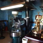 freshly roasted coffee that people cue for