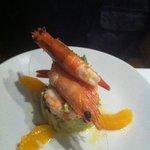 prawn with avacado salad
