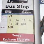 Bus Stop  am Hoteleingang