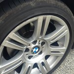 Curb damage courtesy of valet parking at James Cook Hotel