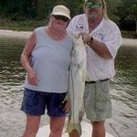 Everglades Snook fish caught on charter in the Everglades National Park