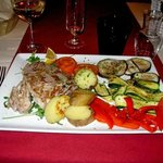 A Delicious Tuna Steak with Tasty Veggies