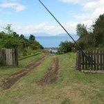 Gate to the private beach.
