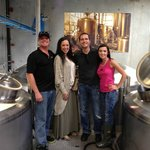 On the brewery tour!
