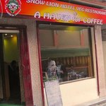 Snow Lion offers a great view to the street while enjoying a great menu of food, coffee and teas