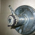 Limescale on outdated shower mixer
