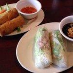 Fried egg rolls & Fresh Shrimp & Pork Spring Rolls