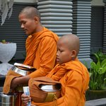 Morning food for the monks.