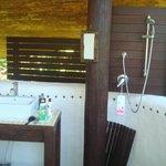 Straw Bale - Open Air  Bathroom