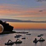 Zelena Laguna - sunset - view from promenade