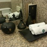 amenities in the bathroom