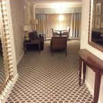 Entrance to the suite, love the carpet pattern.