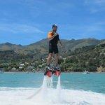 Flyboarding in Akaroa
