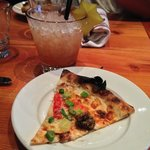 My mock cocktail and delicious pizza