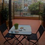 "nice terrace with views to a characteristic courtyard in ""El Eixample""..."