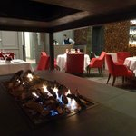 Fire place at the restaurant