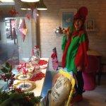 Christmas elf waitress