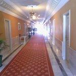El pasillo visto desde nuestra habitacion