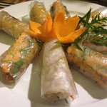 Fish rolls with dill