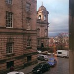 View from Junior suite (Ferris Wheel next to Scots Monument where the German Markets were)