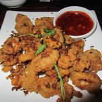 Spicy fried Calamari rings