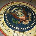 Presidential Seal inside the Kennedy Bunker