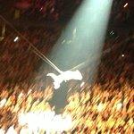 P!nk flying through the air