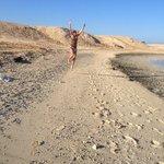 spiaggia deserta vicino il villaggio