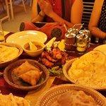 Naan, samosa, chicken tandori ...all delicious food...
