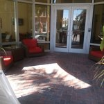 seating area at front of hotel on NE 2nd ave