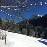 Sunny day with new snow in Wald am Arlberg