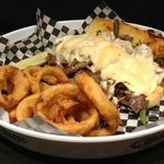 Philly Cheesesteak with Onion Rings