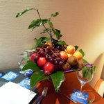 Fruit basket left on our first night