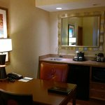 In room wet bar area