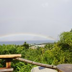 Amazing sunset and rainbow view point