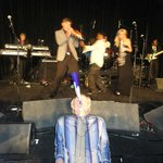 Me on my horn with the band, hahaha!