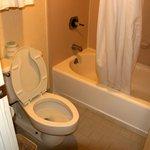 View of bathroom. Typical bathroom setup.