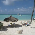 View from our beach loungers