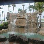 Beautiful waterfall at the main pool area