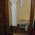 Hotel safe and robe for your use