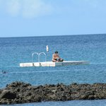 Palau Pacific platform near the snorcheling area