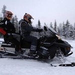 Be picked up by our snowmobile