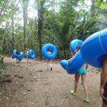 Walking thru the jungle