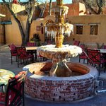Fountain in courtyard in early January