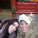 Después de comer en el Elephant House :-D