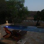 Een pracht uitzicht van uit het zwembad