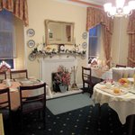 The charming dining room at White Lodge
