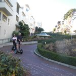 Riding down Lombard Street